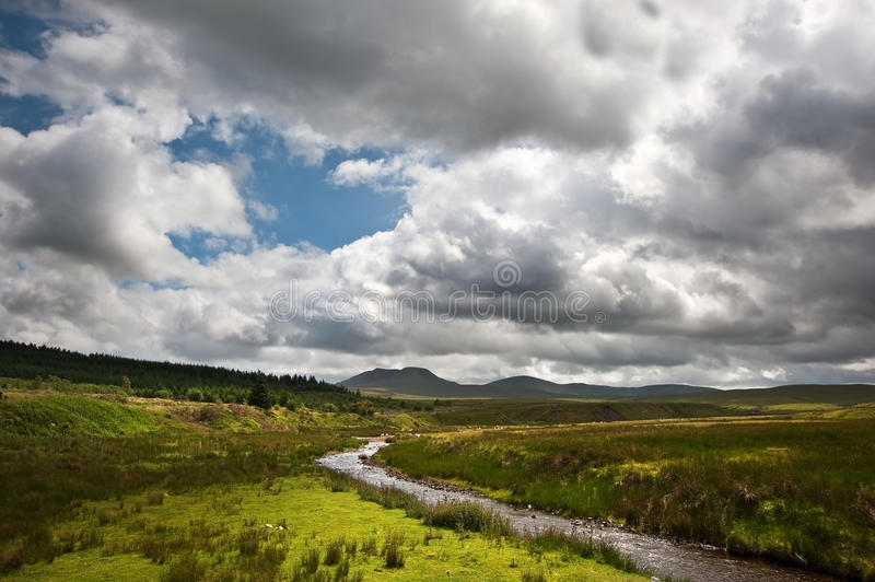 Countryside Landscape Image To Mountains Stock Photography
