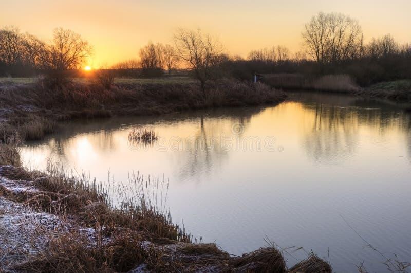 Download Countryside Landscape Winter Sunrise Stock Photo - Image: 25380596