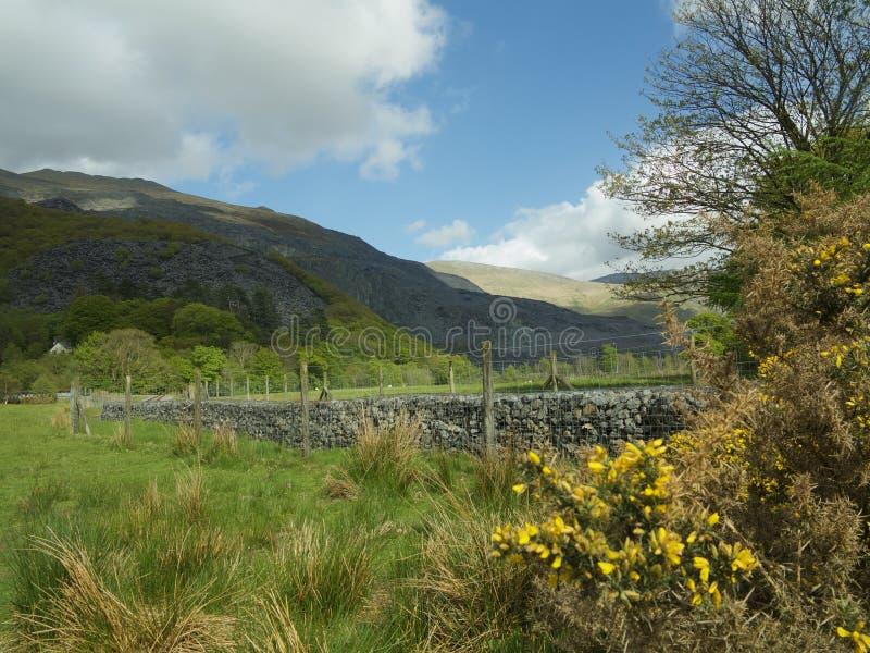 Countryside of llanberis. Mountains at llanberis north Wales u.k royalty free stock photos
