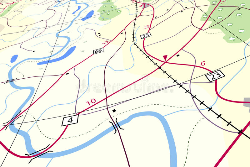Countryside map vector illustration