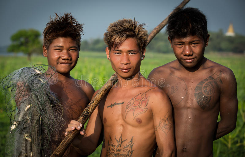 Countryside of Myanmar stock photography