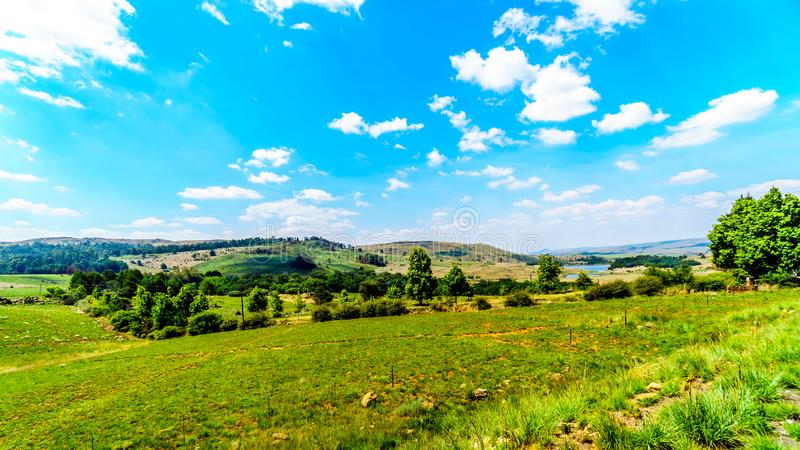 Countryside at the northern end of Highway R532 , the famous Panorama Route royalty free stock images