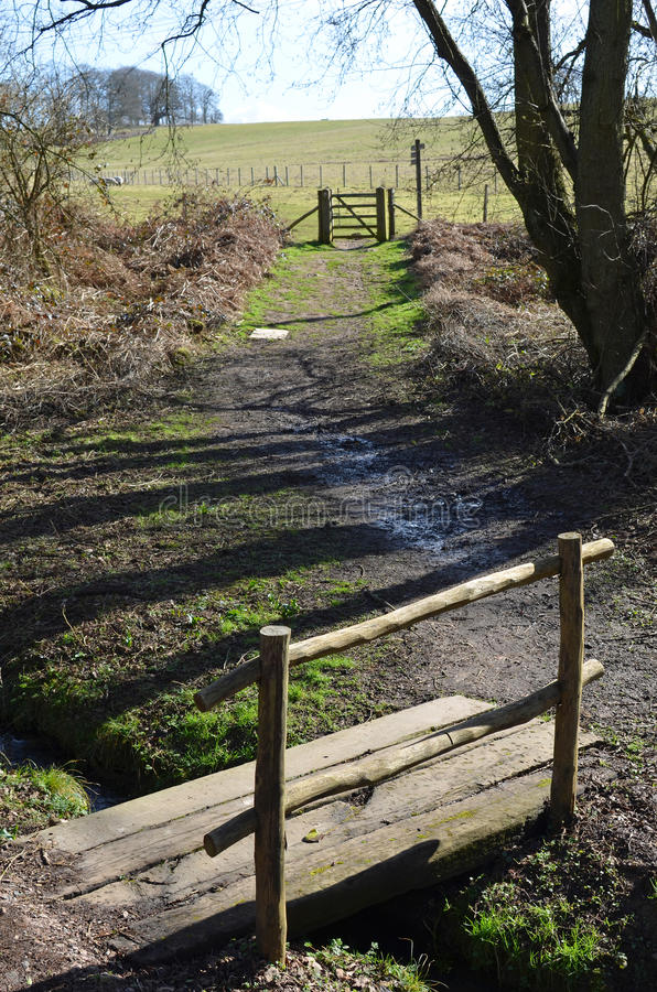 Countryside public footpath. royalty free stock photo