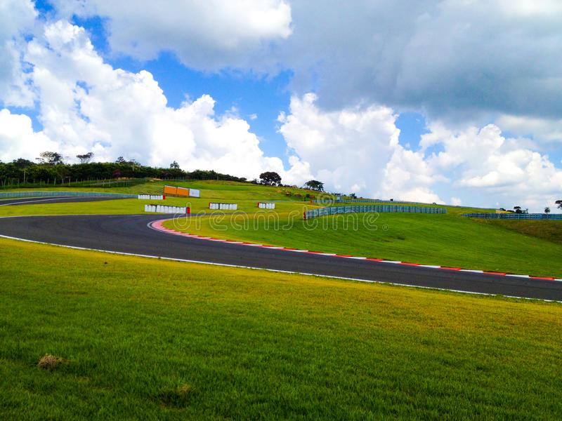 Countryside Racetrack royalty free stock photography