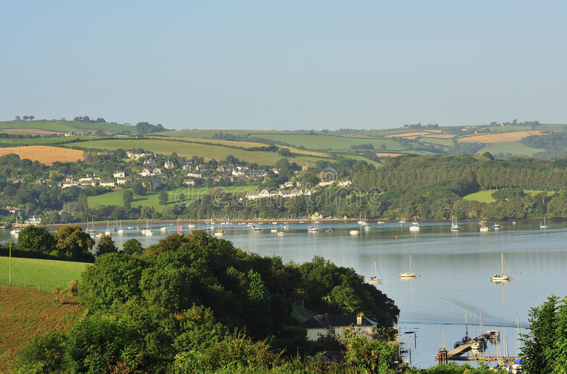 Download Countryside, River Dart Estuary, Devon Stock Image - Image of dart, moored: 26629727