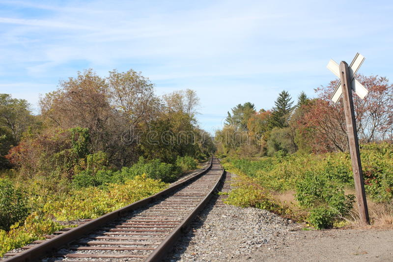 Countryside RR tracks royalty free stock photography