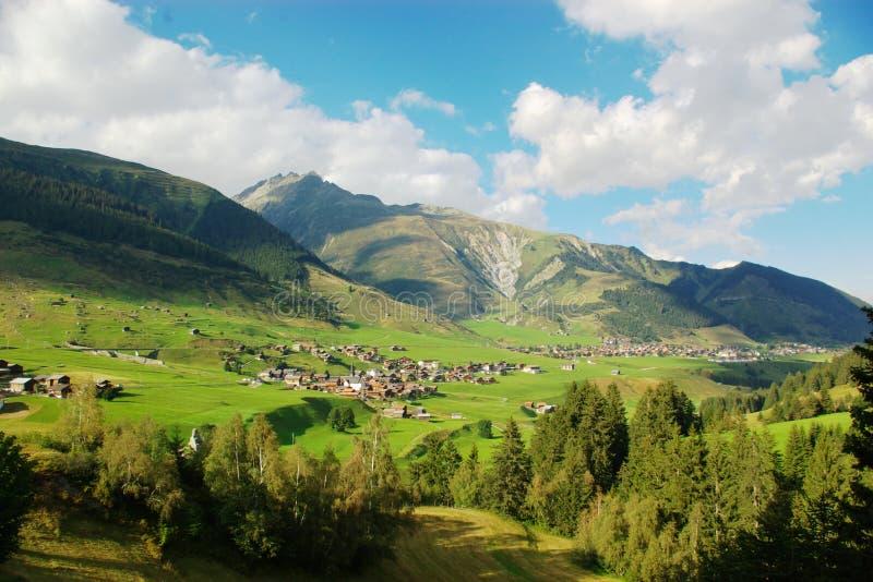 Countryside swiss landscape stock photo