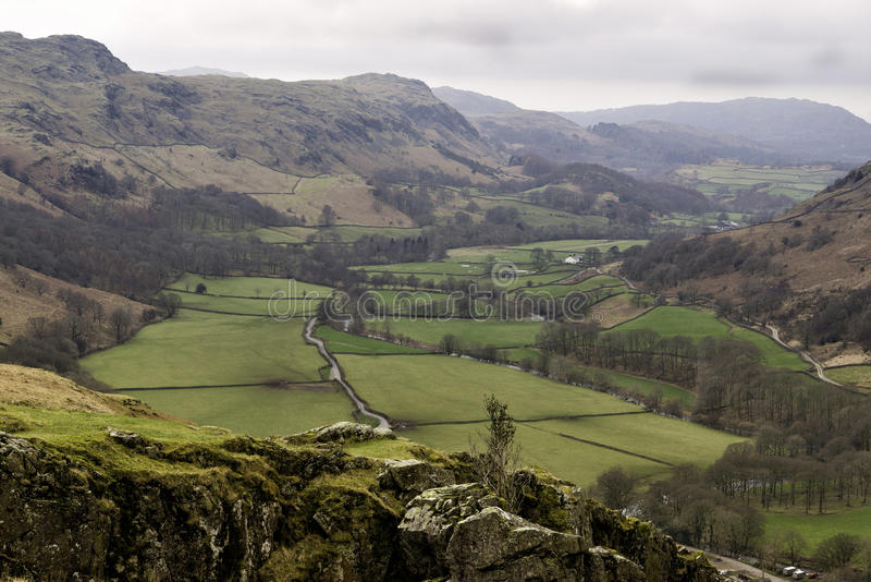 Countryside View, Hardknott Pass, England royalty free stock photos
