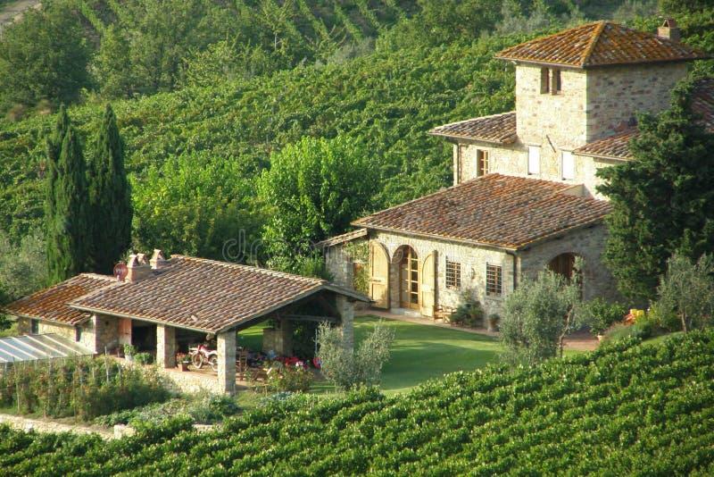 Countryside villa stock photo