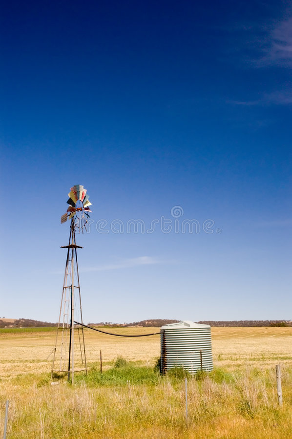 Download Countryside Windmill stock photo. Image of tank, architecture - 1468514