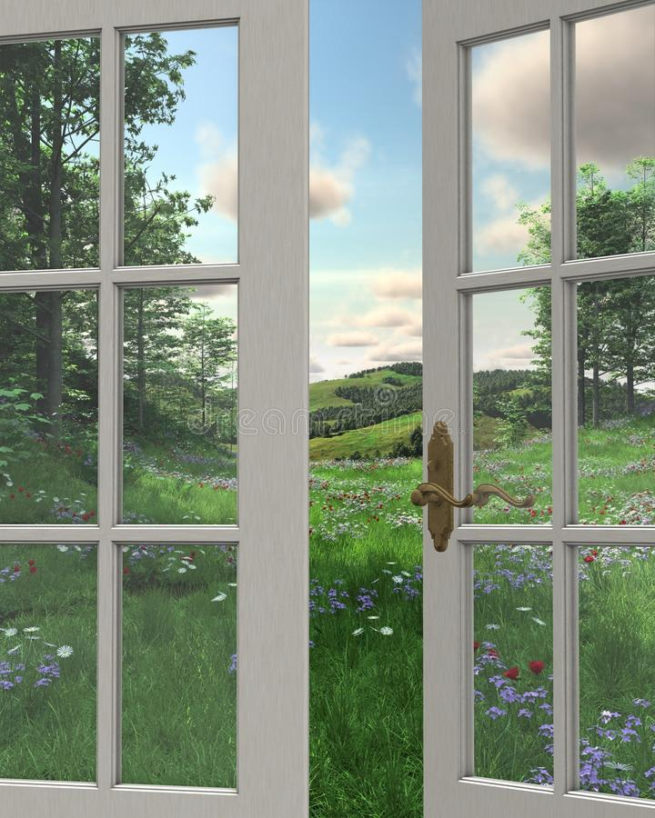 Download Countryside Window View stock illustration. Illustration of landscape - 15633620