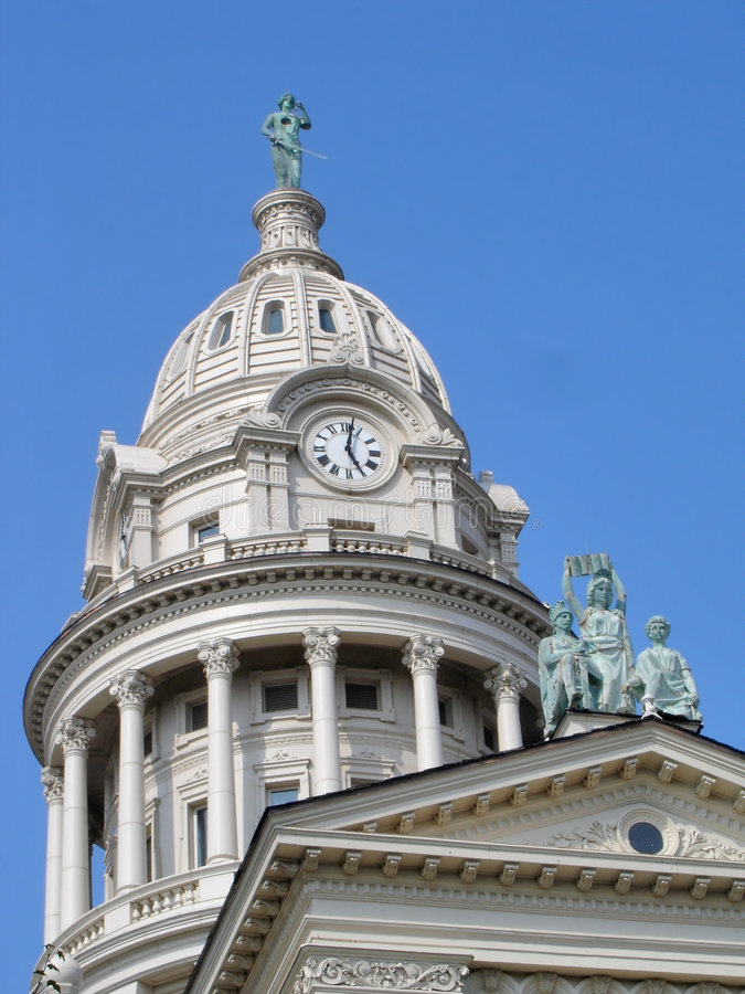 County Court House Dome. View of an ornate dome on an old county court house in Ohio stock photos