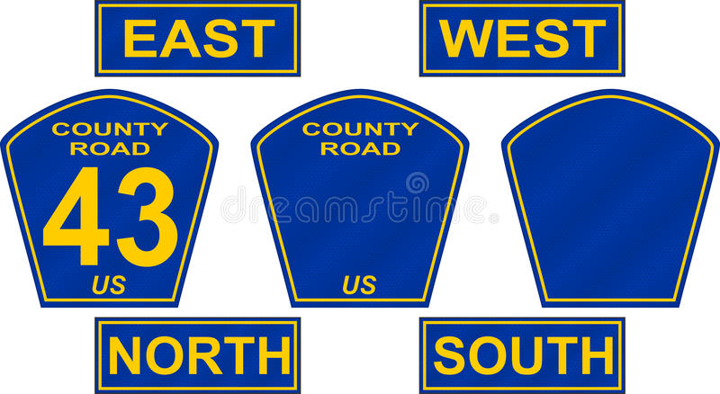 Download County Road Sign stock vector. Illustration of state - 17258335