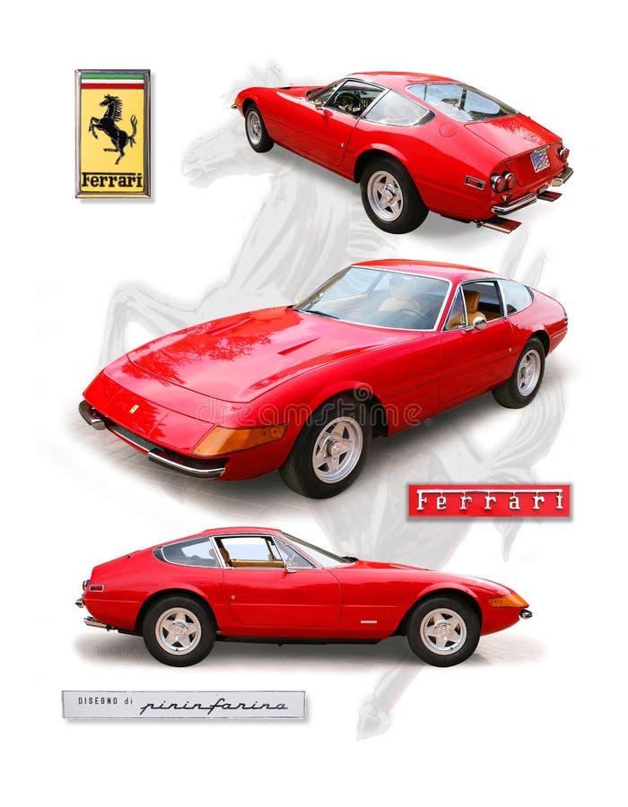 Coupé classique de ` de Daytona de ` de Ferrari 356 illustration de vecteur