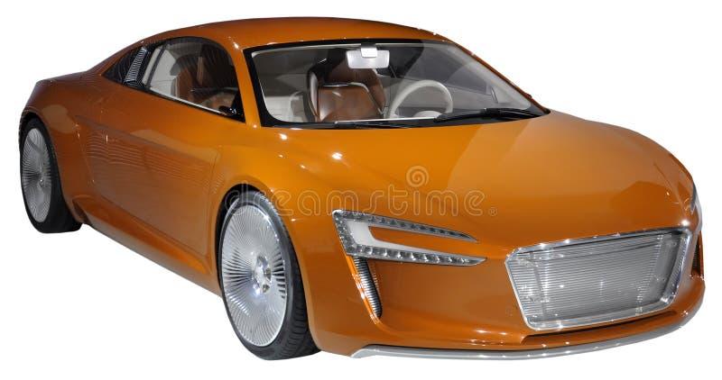 Coupé di lusso arancione isolato