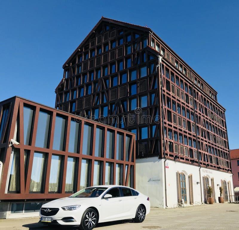 Coupé grand 2018 d'insignes d'Opel images libres de droits