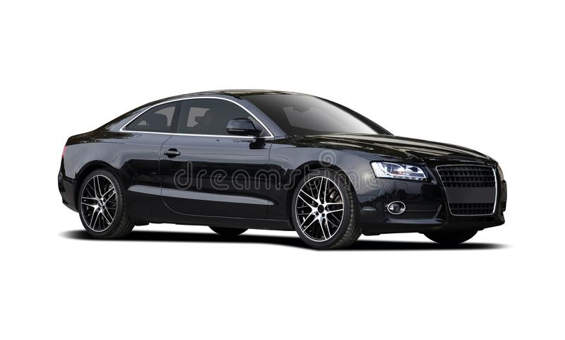 Coupé noir d'Audi A5 photographie stock