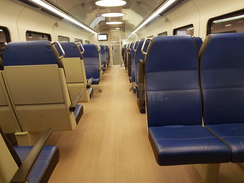 Coupé vieuw Nederlandse trein royalty-vrije stock fotografie