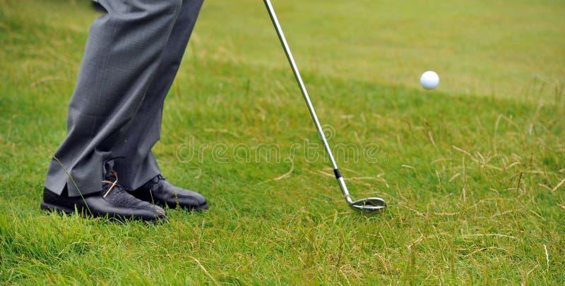 Coup caché de golf du rugueux images libres de droits