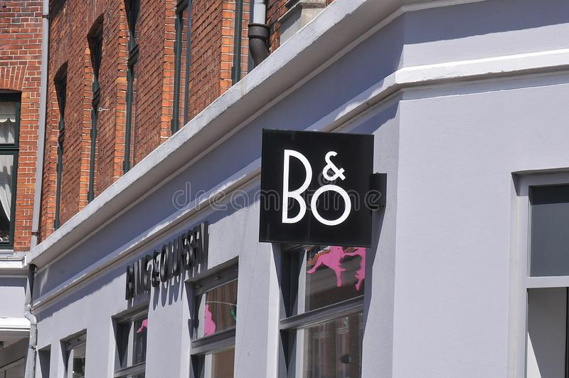 Coup de B&O et radio d'Olufsen et magasin de TV au Danemark photographie stock