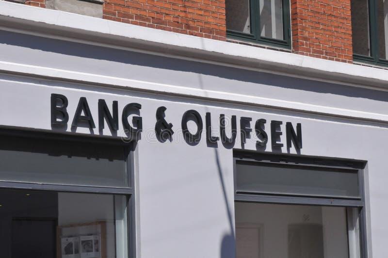 Coup de B&O et radio d'Olufsen et magasin de TV au Danemark photographie stock libre de droits