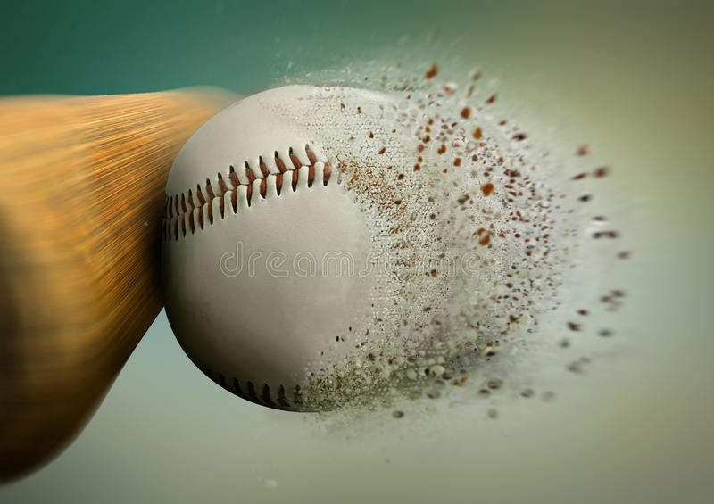 Coup de base-ball photos libres de droits