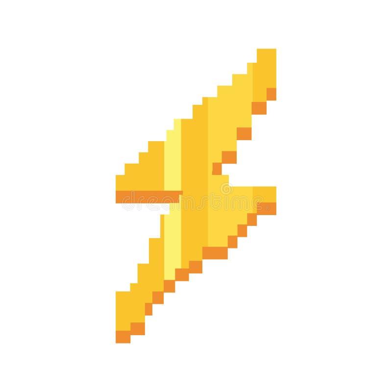 Coup de foudre de jeu vidéo de pixel illustration libre de droits