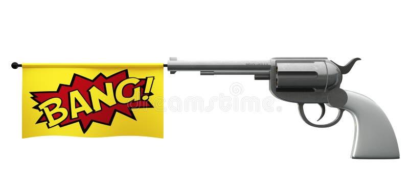 Coup de pistolet illustration de vecteur