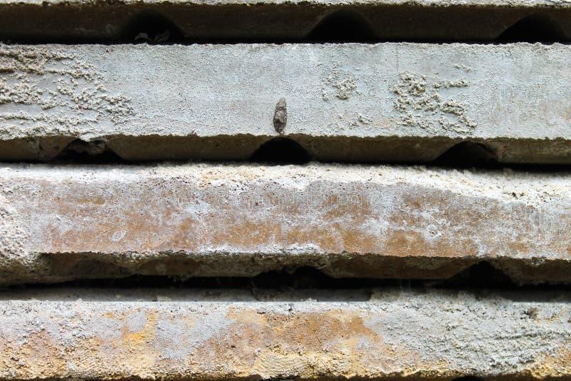 Coup empilé de ciment image stock