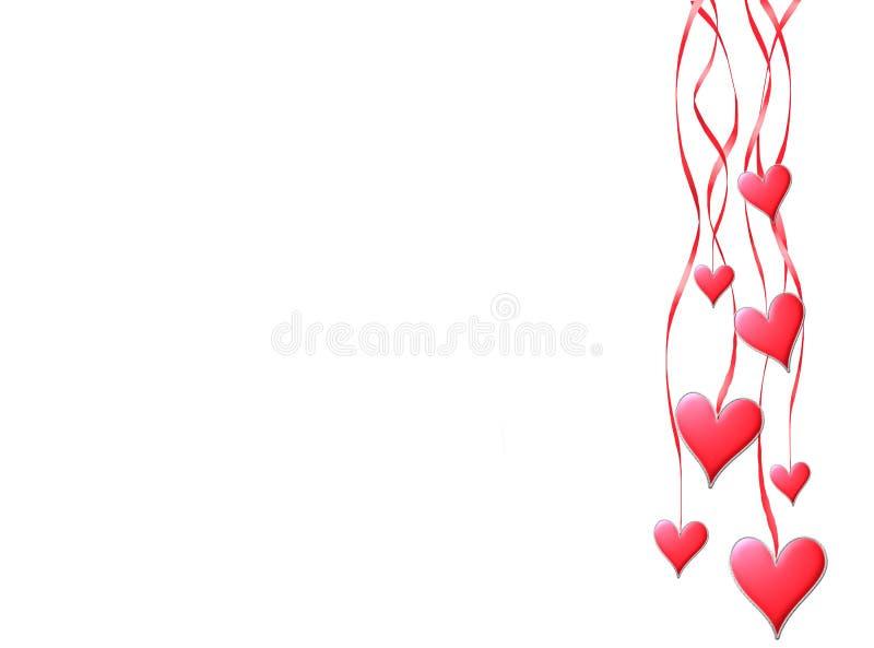 Coup rouge de coeurs sur bandes illustration de vecteur