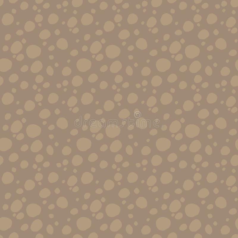 Coupe à deux tons de Brown de sol sous le modèle au sol avec des pierres rondes plus légères, modèle sans couture de vecteur de t illustration stock