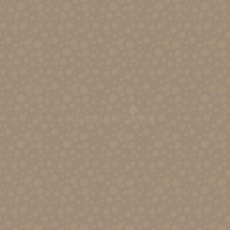 Coupe à deux tons de Brown de sol sous le modèle de la terre avec les pierres rondes, creux ou en bois, modèle sans couture de ve illustration de vecteur