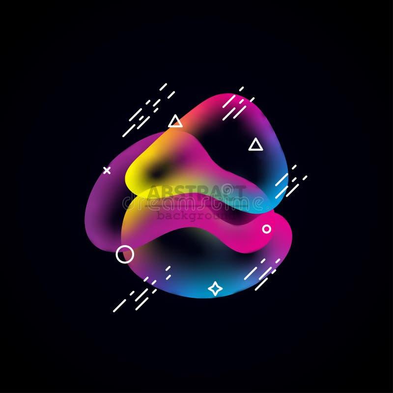 Coupe abstraite liquide d'exposé introductif d'amibe de mouvement illustration de vecteur