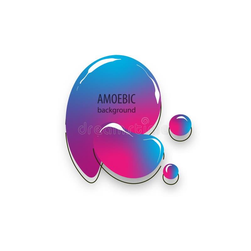 Coupe abstraite liquide d'exposé introductif d'amibe de mouvement illustration stock