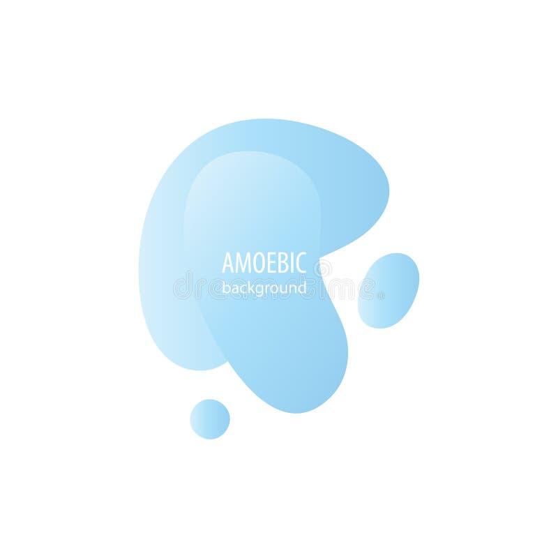 Coupe abstraite liquide d'exposé introductif d'amibe de mouvement illustration libre de droits