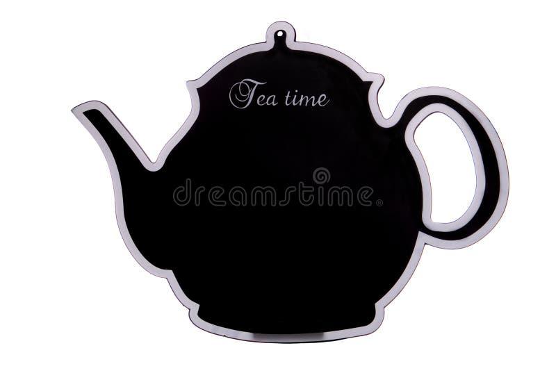 Coupe-circuit de panneau de craie de temps de thé photo libre de droits