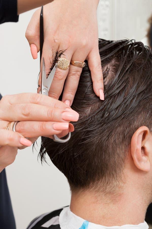 Coupe de cheveux à la mode photos stock