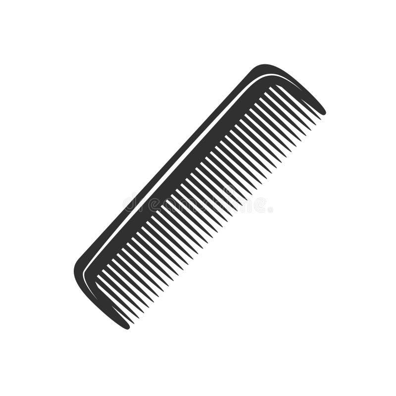 Coupe de cheveux de style de vintage de peigne de rasoir de cheveux de salon de coiffure de raseur-coiffeur la rétro a coupé le m illustration libre de droits