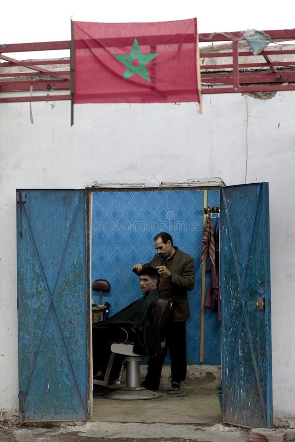 Coupe de cheveux marocaine photo stock