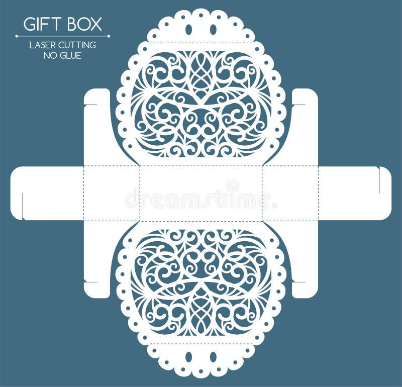 Coupe de laser de boîte-cadeau illustration stock