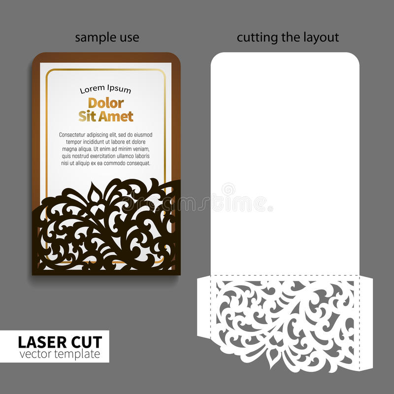 Coupe de laser de vecteur illustration stock