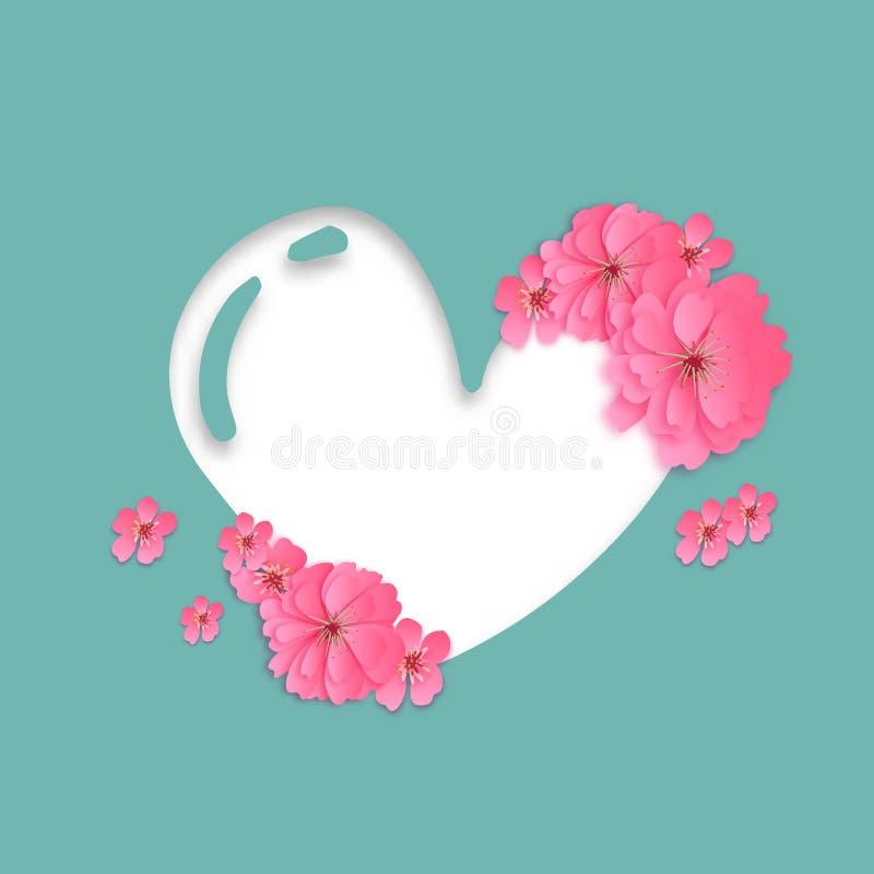Coupe de papier ENV 10 de symbole d'amour illustration stock
