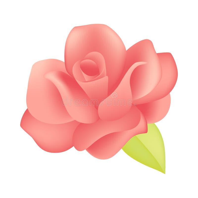 coupe de papier de rose du rose 3D illustration de vecteur