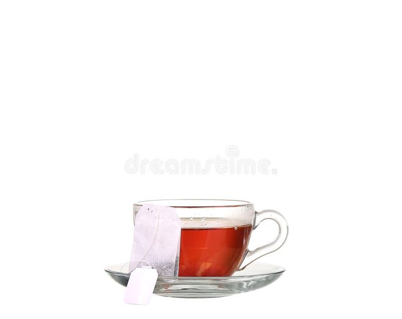 Coupe de thé au teabag sur fond blanc photo libre de droits
