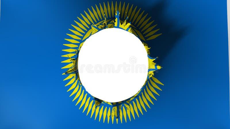 Coupe de trou dans le drapeau du Commonwealth des nations illustration de vecteur