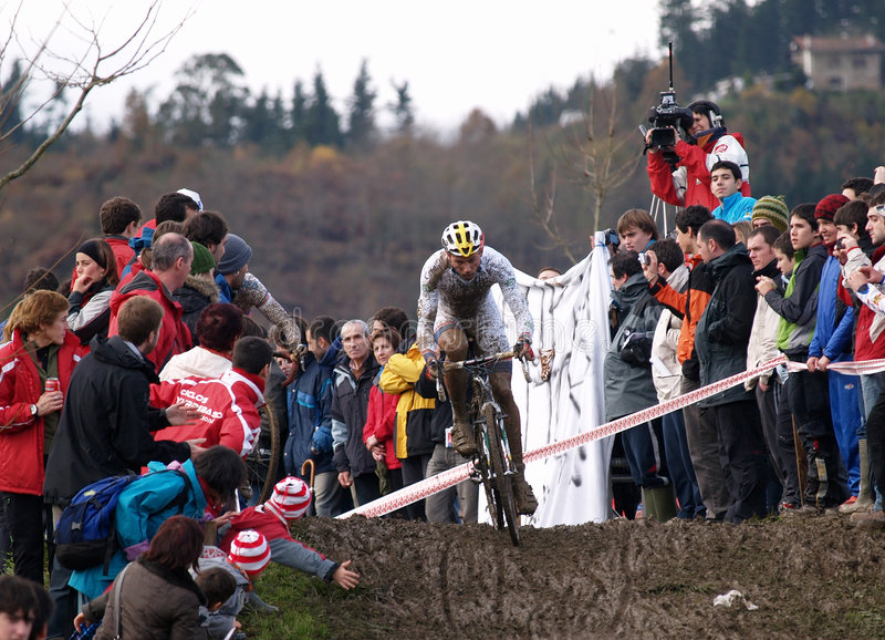 Coupe du monde 2008-2009 de Cyclocross image libre de droits
