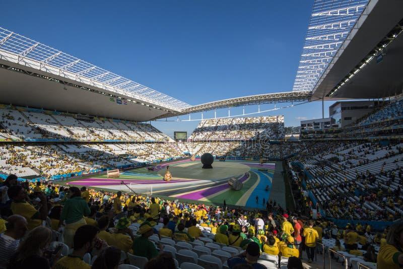 Coupe du monde Brésil 2014 - la Croatie du Brésil 3 x 1 image libre de droits