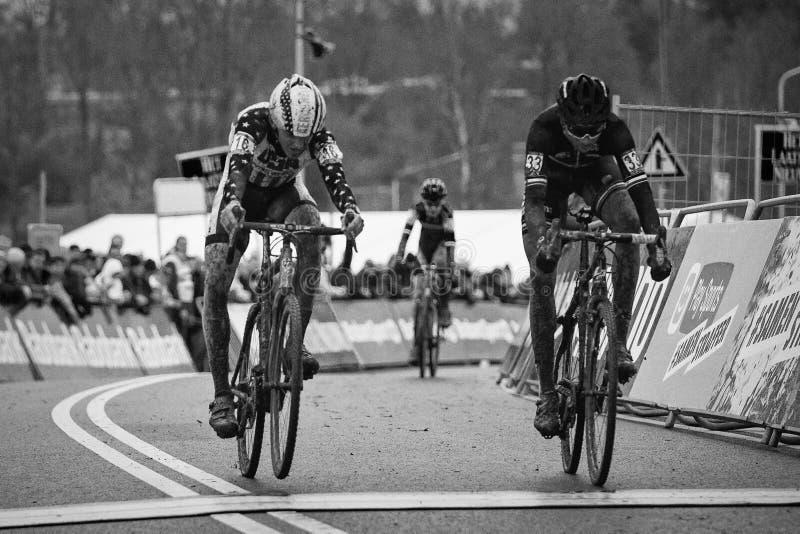 Coupe du monde d'UCI Cyclocross - Hoogerheide, Pays-Bas images stock
