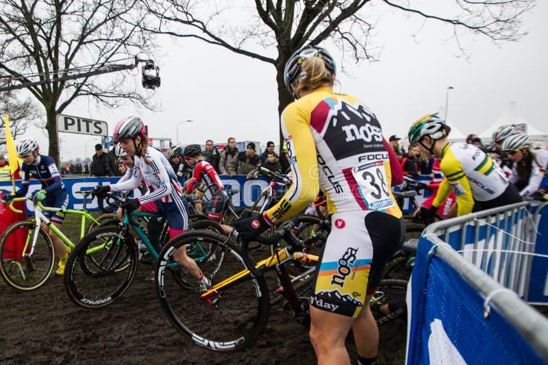 Coupe du monde d'UCI Cyclocross - Hoogerheide, Pays-Bas image stock