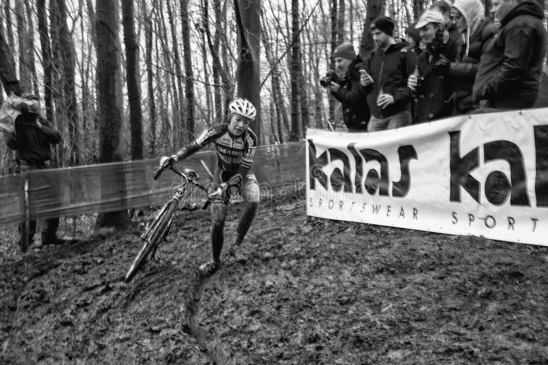 Coupe du monde d'UCI Cyclocross - Hoogerheide, Pays-Bas photos libres de droits